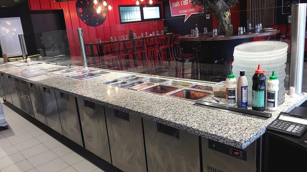 Gammino equipements conception am nagement et installation de pizzeria - Calcul debit hotte cuisine ouverte ...